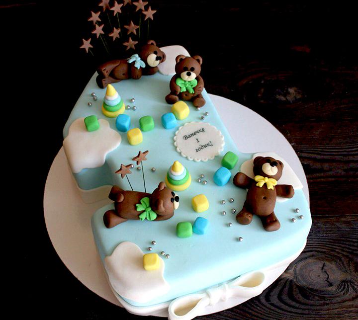 тортик на 1 годик для мальчика