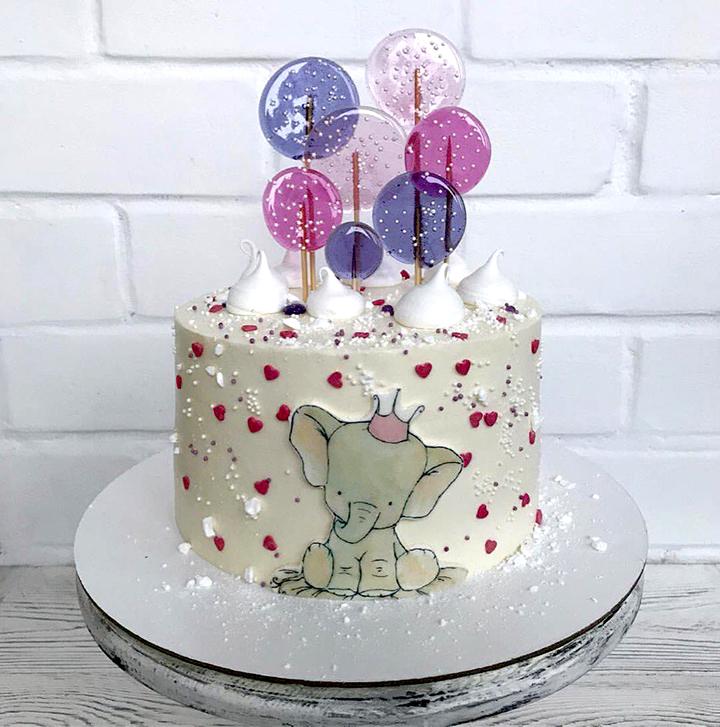 тортик со слоненком на годик