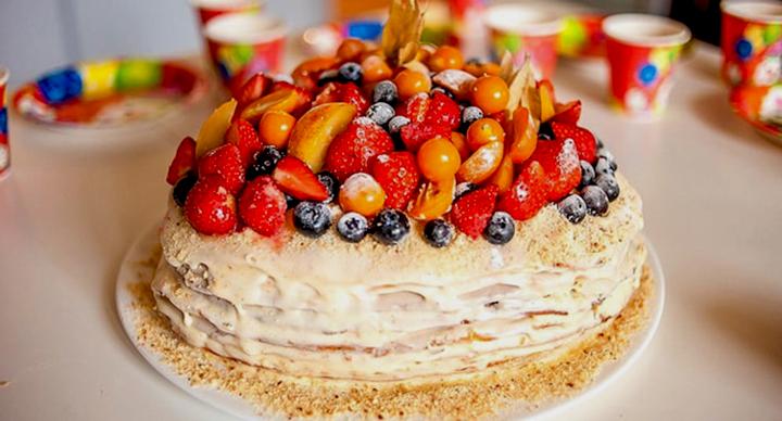 блинный кремовый торт