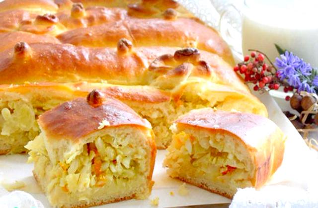 капустный пирог в сметане рецепт