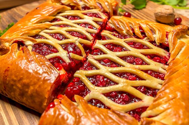 пирог из клюквы приготовление