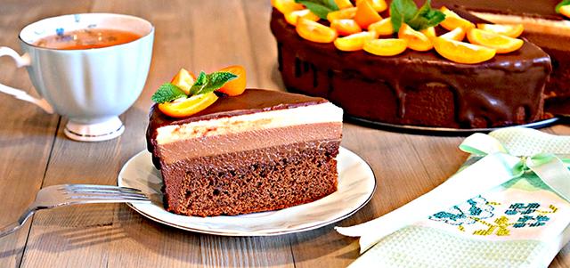 приготовление торта три шоколада