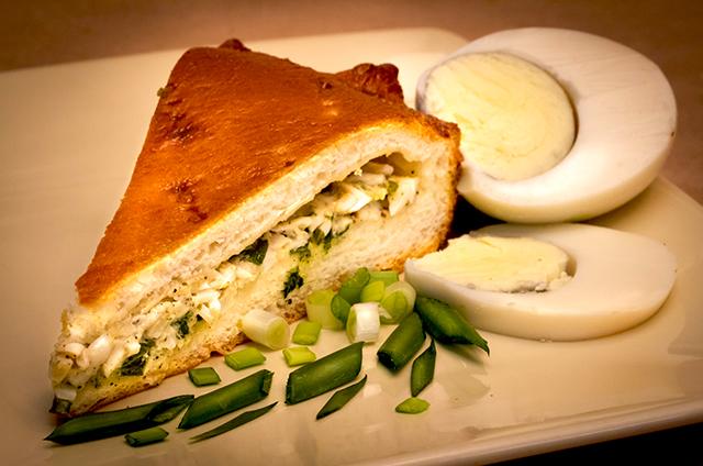 рецепты пирога с зеленым луком и яйцом