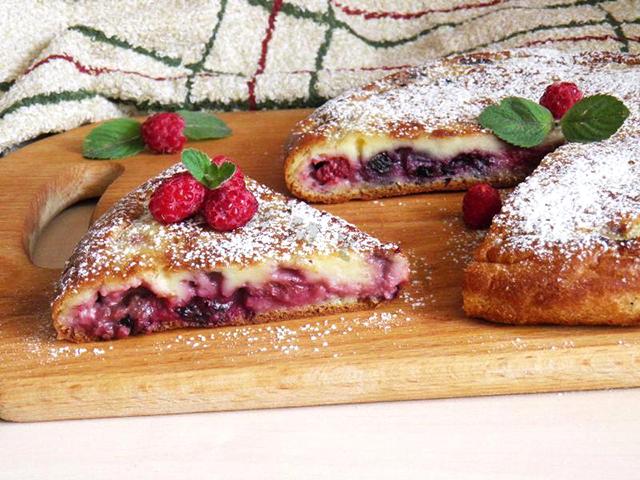 рецепты пирога с малиной
