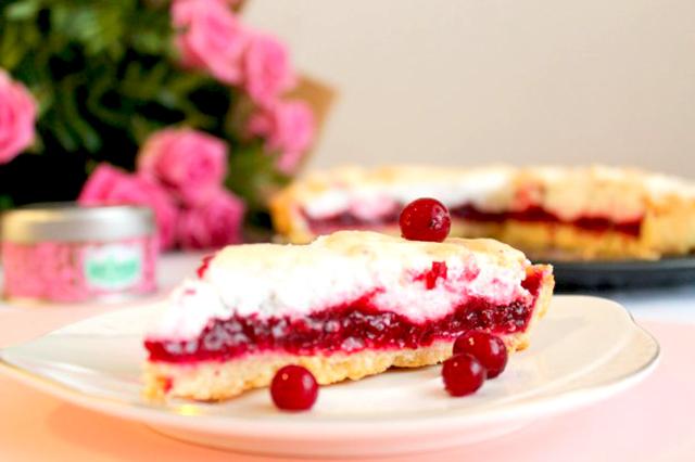 рецепт пирога из клюквы