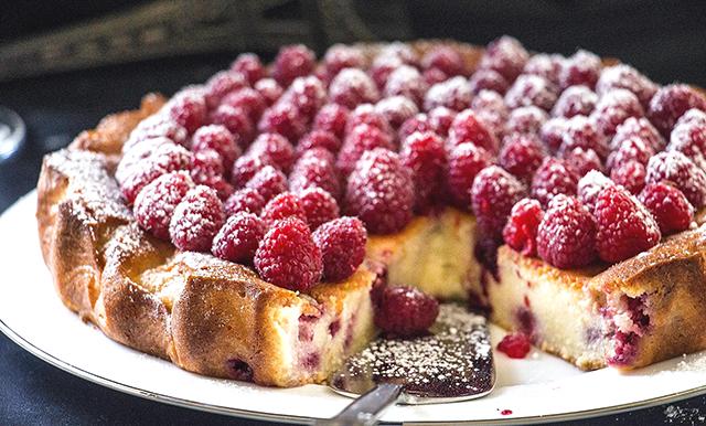 с малиной пирог рецепт