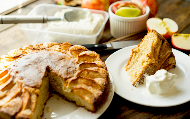 яблочный диетический пирог