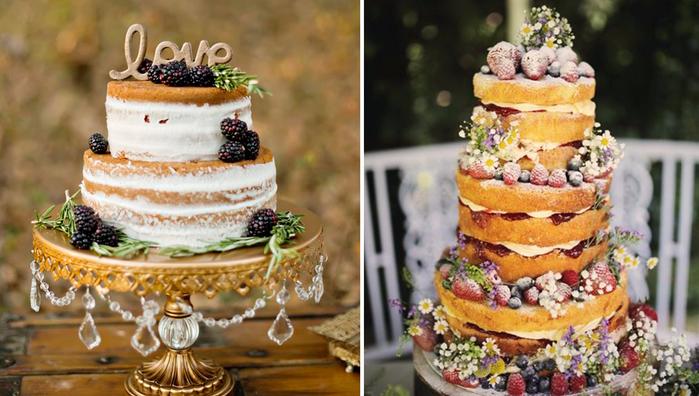 Трёхъярусный свадебный торт из мастики