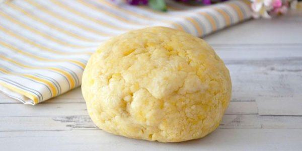 Сырное песочное тесто для пирога