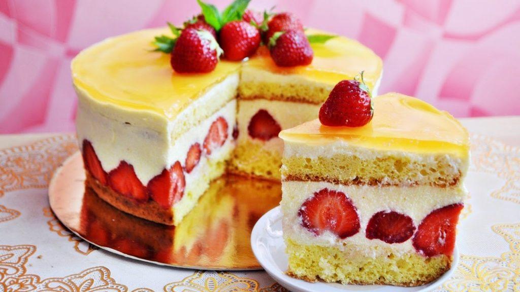 Торт Клубничное наслаждение