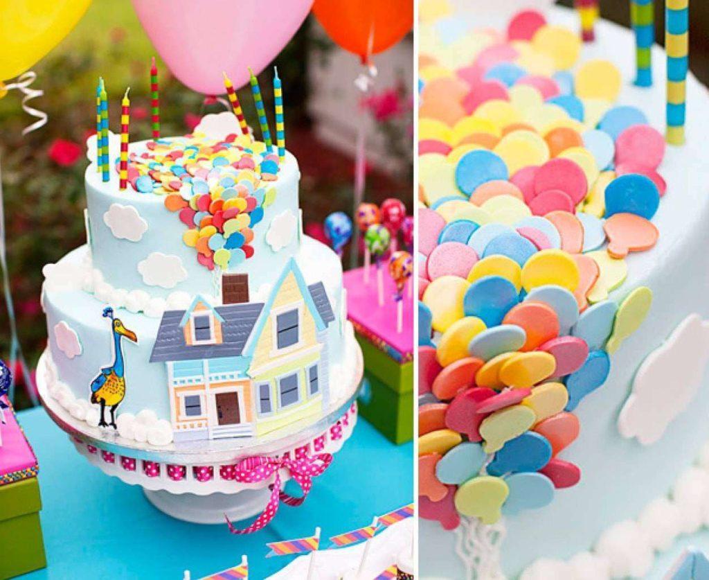 Украшение торта на День рождения марципаном